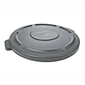 Flat Lid For 32 Gallon Round Trash Container - Gray