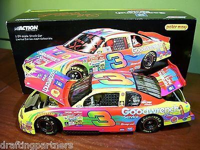 XRARE 1/24 Dale Earnhardt Sr #3 PETER MAX Goodwrench Multi Color Die-Cast NASCAR