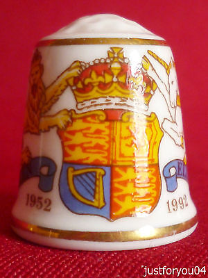 Sutherland - 40th Anniversary of H.M The Queen Accession to The Throne Thimble