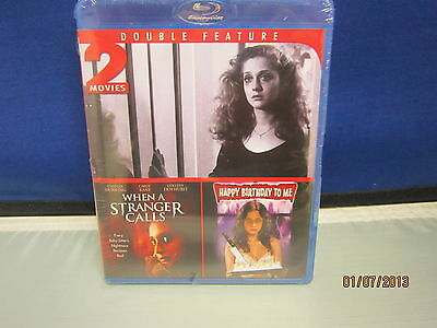 2 Movies WHEN A STRANGER CALLS-HAPPY BIRTHDAY TO ME Blu-Ray b *New DvdSealedNBO*