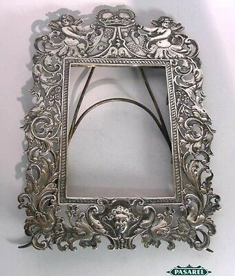 Rare Magnificent Antique Silver Frame Liegnitz Prussia Germany Ca 1750