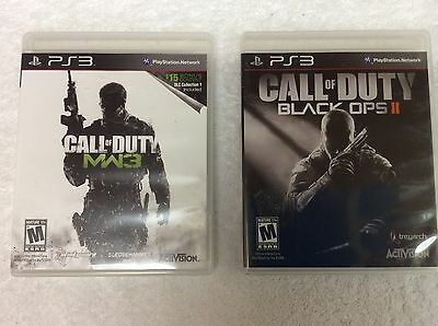 PS3:  Lot of 2 PS3 Games:  CALL OF DUTY BLACK OPS ll & CALL OF DUTY MW3