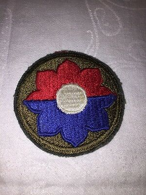 WW2 Patch US Army 9th Infantry Division Greenback