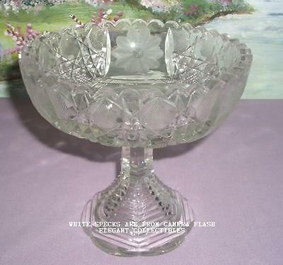 EAPG 1900 ANTIQUE GLASS SERVING BOWL FOOTED COMPOTE