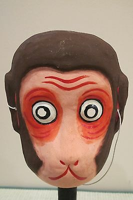 Vintage Antique Collectible Paper Mache Monkey, Old Japan Inc. Marked
