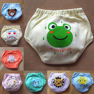 Animal Potty Training Reusable Baby Toddler Pocket Diaper 4 Layers Knickers