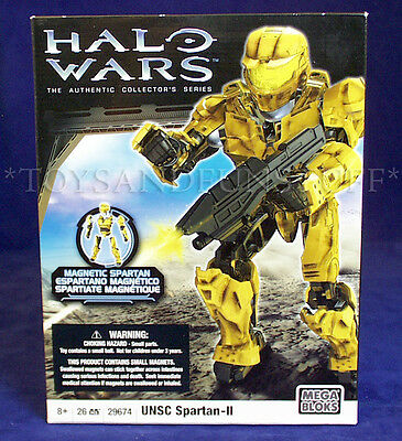 NEW - UNSC SPARTAN-II HALO WARS Mega Bloks 29674 - Magnetic Spartan YELLOW GOLD