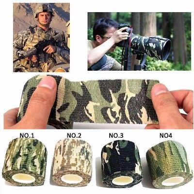 Lot Camouflage Adhesive Tape Sticky CAMO Reusable WRAP RIFLE/GUN HUNTING STEALTH
