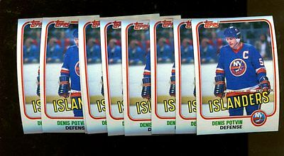 1981 TOPPS #27 DENIS POTVIN LOT OF 109 NMMT H35702