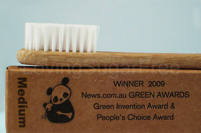 The Environmental Bamboo Toothbrush * Adult Medium * ECO FRIENDLY * Fast Ship