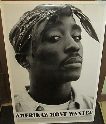 TUPAC SHAKUR 2 PAC SEALED NEW  RAP HIP HOP RARE SEALED  POSTER MOST WANTED