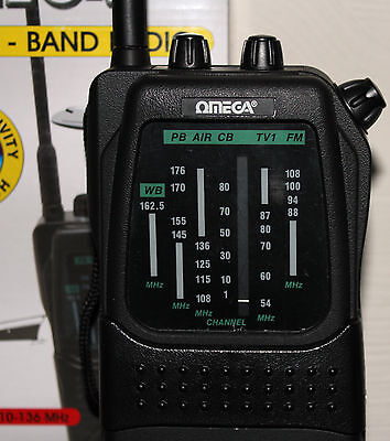 Omega Icon3 Multiband Portable Radio Fm/tv1/air Pb/marine /wb Bands