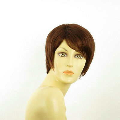 short wig for women dark brown copper intense ref: elsa 322 PERUK