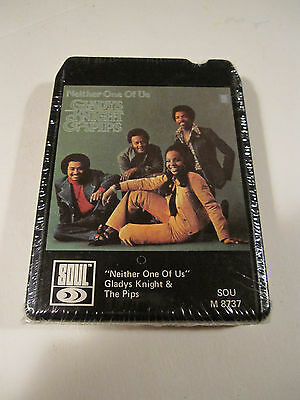 Gladys Knight and The Pips SEALED Neither One Of Us 8 Track tape RARE R&B