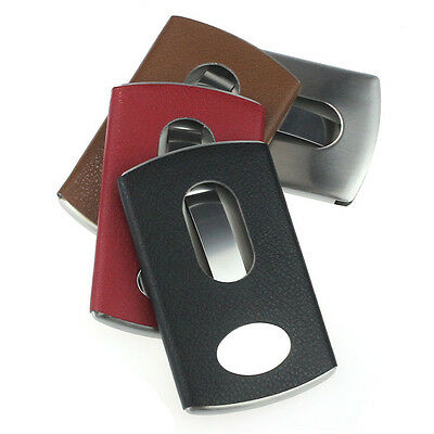 Thumb Slide Out Stainless Steel Pocket Business Credit Card Holder Case Gayly