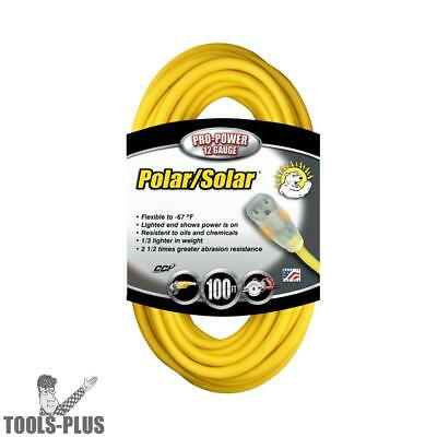 Coleman Cable 100' 12/3 SJEOW Polar/Solar Extension Cord 01689 New