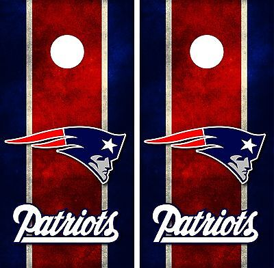 New England Patriots Cornhole Board Decal Wrap Wraps