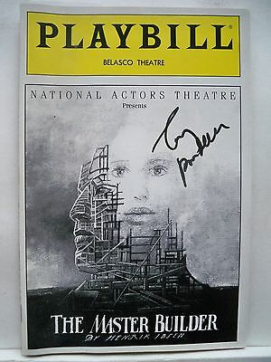 THE MASTER BUILDER Playbill TONY RANDALL Autographed NYC 1992