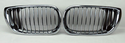 Chrome Front Hood Kidney Sport Grills Pair FITS BMW E46 02-05 4dr 3 Series