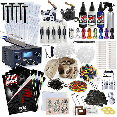 Complete Professional Tattoo Kit - Machine Equipment Set