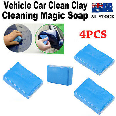 4x Magic Car Truck Clay Cleaning Soap Bar Auto Vehicle Detailing Wash Cleaner AU