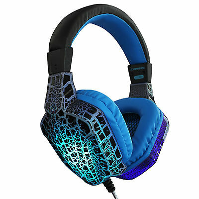 Hot Gaming Headphones Headset 7 Changeable LED Lights with Mic