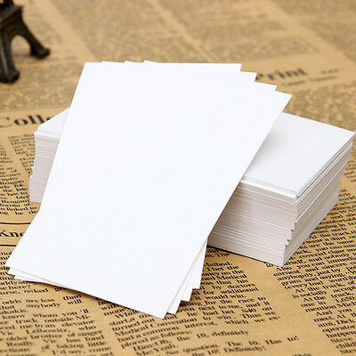 100PCS White Blank Trading Business Wood Cards Label Tag Name Card 90 x 55mm DIY