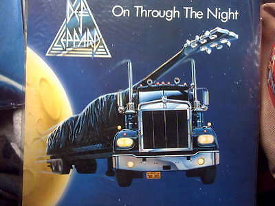 DEF LEPPARD uk  LP Record ON THROUGH THE NIGHT