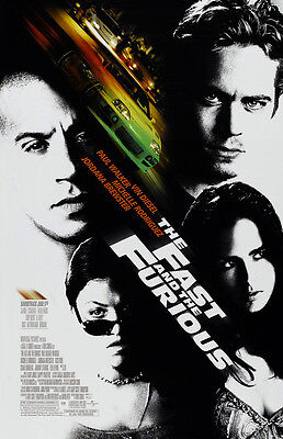 FAST and the FURIOUS movie poster (a) VIN DIESEL poster, PAUL WALKER poster,