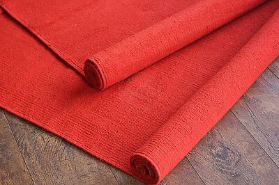 Flair Hands Contemporary Solid Red Woven Indoor/Outdoor Area Rug/Carpet/Mat/tapi
