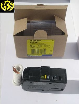 New In The Box Nib Square D Qo240Gfi Qo 2 Pole 40 Amp Gfci Breaker
