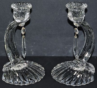 Cambridge Caprice Candle Holders #70 Shell Foot (2) * *
