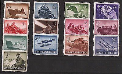 Nazi Germany Post Office WW2 Third 3rd Reich Wehrmacht Heroes stamp set 1944