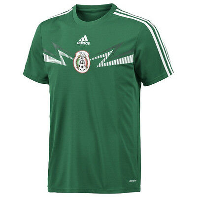 adidas climalite mens mexico home replica top t-shirt soccer world cup xl