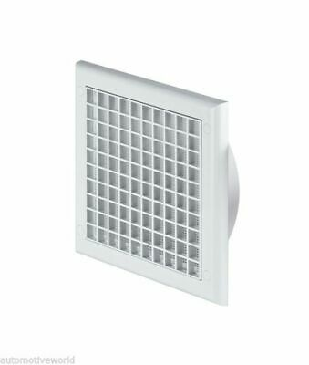 Air Vent Grille 190mm x 190mm with 100mm Ducting Pipe Connection Fly Screen TP3