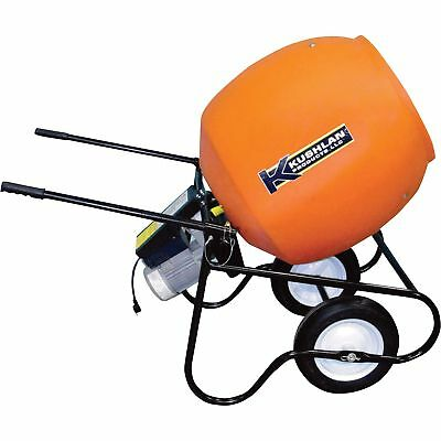Kushlan Professional Portable Electric Direct Drive Cement Mixer- 6 Cubic ft