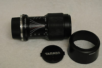 EXCELLENT TAMRON 70-210mm F4-5.6 ADAPTALL MOUNT WITH OM MOUNT, HOOD, CAPS