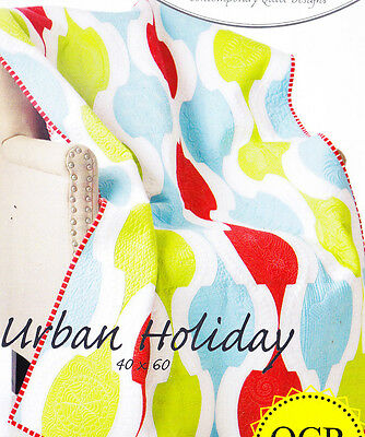 SALE - Urban Holiday - fabulous pieced quilt PATTERN - uses Quick Curve Ruler