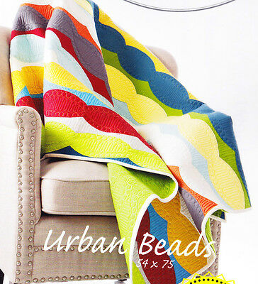 SALE - Urban Beads - fabulous pieced quilt PATTERN - uses Quick Curve Ruler