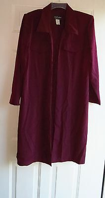 Chad's Place Made In U.S.A. Long Classic Style Overjacket Retro Sz 16W