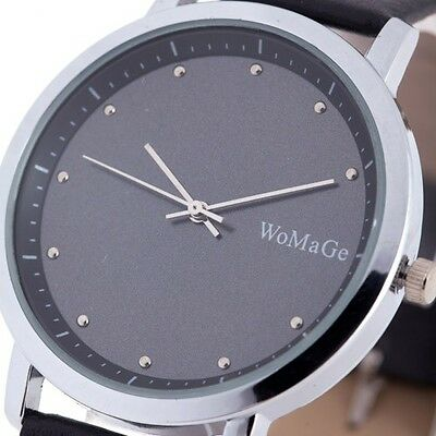 Stainless Steel Hour Dial Men Women Wrist Watch PU Leather Light Thin 2015 JP02