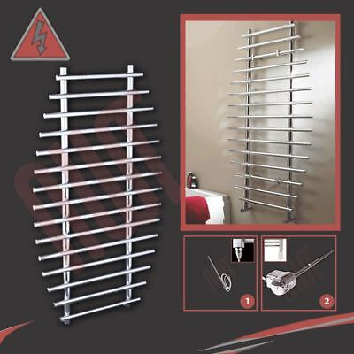 "700mm(w) x 1200mm(h) Pre-Filled Electric ""Barmouth"" Chrome Towel Rail - 300W"