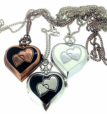 Top Quality Heart-Shaped Necklace/ Pendant Watch - UK Seller