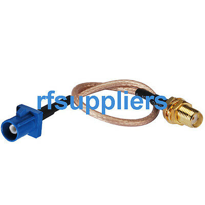 Fakra C male straight to SMA female pigtail Cable RG316 15cm for GPS telematics
