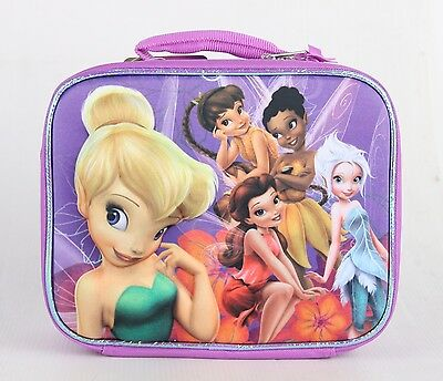 TINKER BELL DISNEY FAIRIES Girls Pink Lead-Free Insulated Lunch Tote Box NWT $20