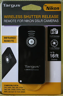 NEW Targus Wireless Shutter Release Remote For NIKON DSLR Cameras MODEL TG-NI200