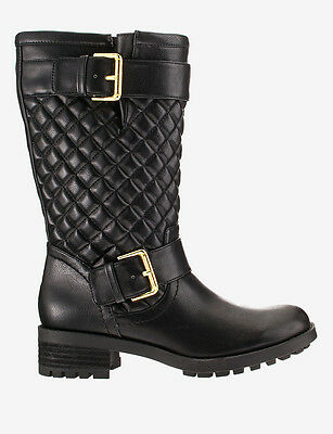 $90 FREE SHIPPING!-Rampage Ichabod Quilted Moto Boot –Size 9 1/2 WIDE CALF