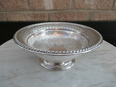 BARKER ELLIS BOWL COMPOTE FOOTED ENGLAND SILVERPLATE MENORAH MARK RETICULATED