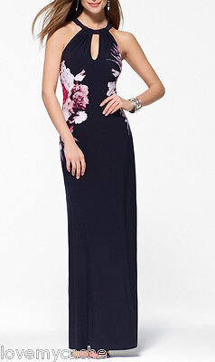 NWT Cache STUNNING Evening Maxi Dress  Sexy Summer Gown / Cruise   L. ( 10-12 )