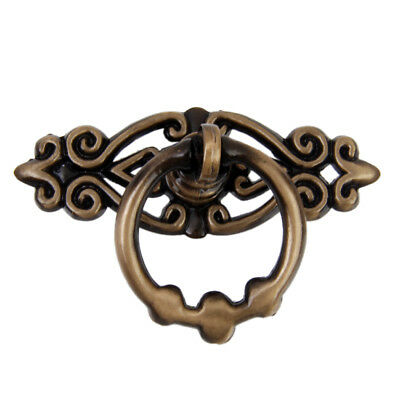 Vintage Antique Wardrobe Cabinet Door Cupboard Drawer Pull Ring Handle Knob
